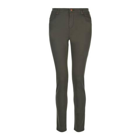 Hobbs London Khaki Wilma Stretch Slim Jeans
