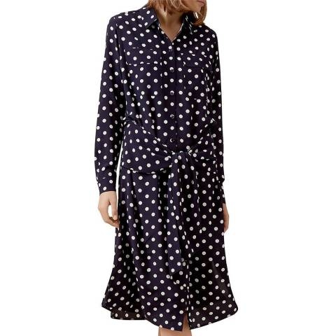Hobbs London Navy/Ivory Lucy Dress
