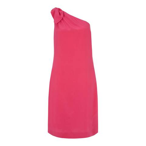 Hobbs London Pink Silk Rosalie Dress