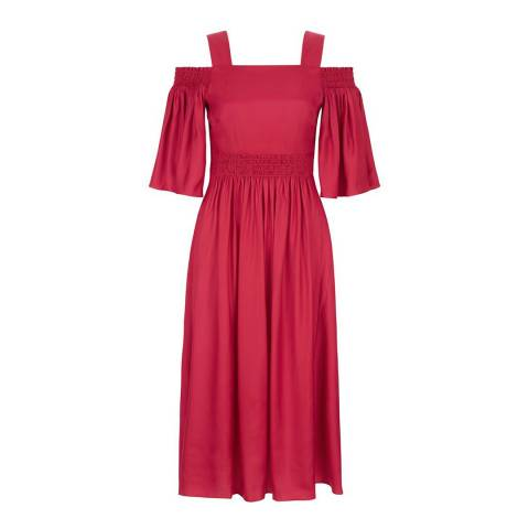 Hobbs London Red Sienna Dress