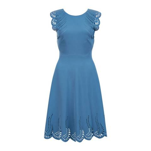 Hobbs London Blue Dita Dress
