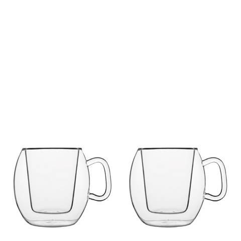 Luigi Bormioli Set of 2 Thermic Caffe Aroma Glasses, 300ml