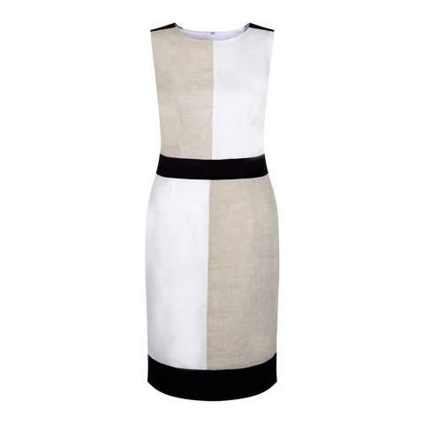 Hobbs London Stone/Multi Irene Dress