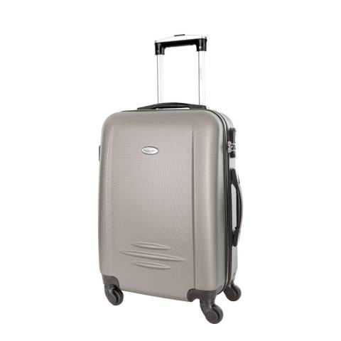 Travel One Beige Burlin 4 Wheel Suitcase 60cm