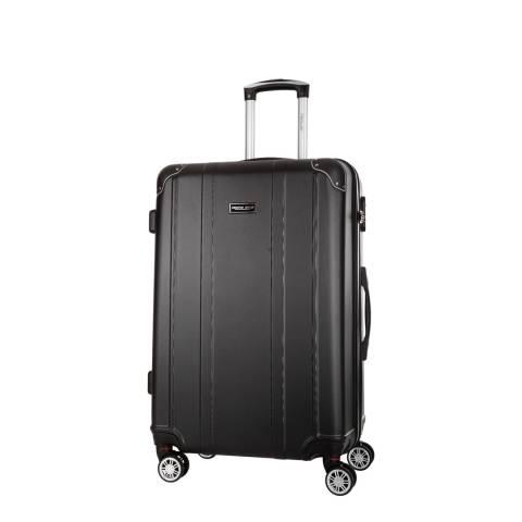 Travel One Black 8 Wheel Bazzano Suitcase 46cm