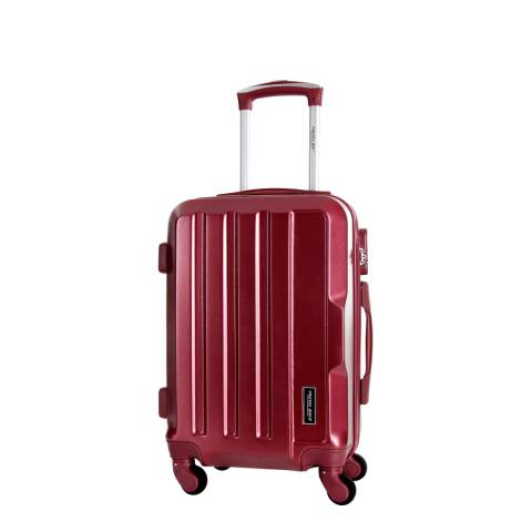 Travel One Burgundy Vilarosa 4 Wheel Suitcase 46cm