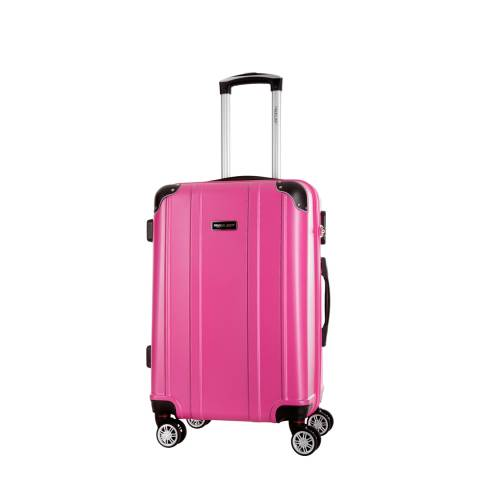 Travel One Fuschia Bazzano 8 Wheel Suitcase 46cm