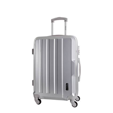Travel One Silver Vilarosa 4 Wheel Suitcase 46cm