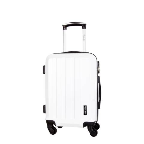 Travel One White Vilarosa 4 Wheel Suitcase 46cm
