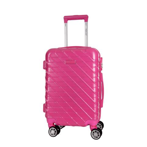 Travel One Fuschia Leiria 8 Wheel Suitcase 56cm