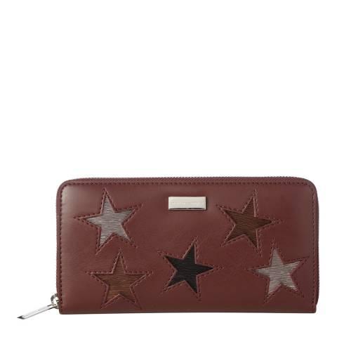Stella McCartney Burgundy Stars Continental Purse