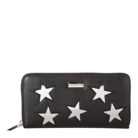 Stella McCartney Black/Silver Stars Continental Purse