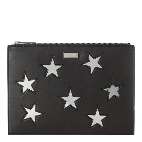 Stella McCartney Black Metallic Stars Document Case