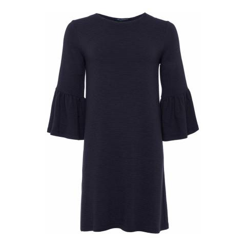 French Connection Blue Bell Sleeve Tunic Dress