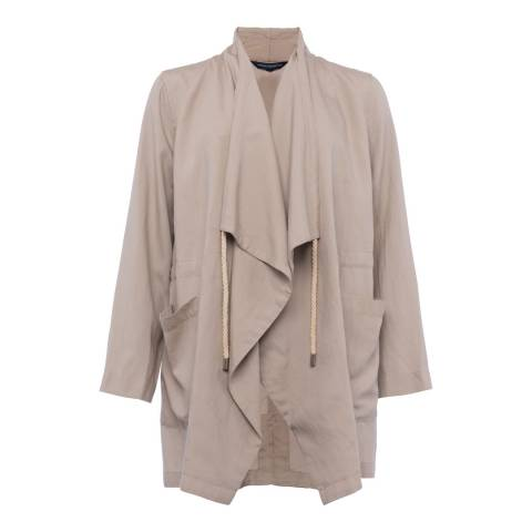 French Connection Palma Sand Ellesmere Drawstring Jacket