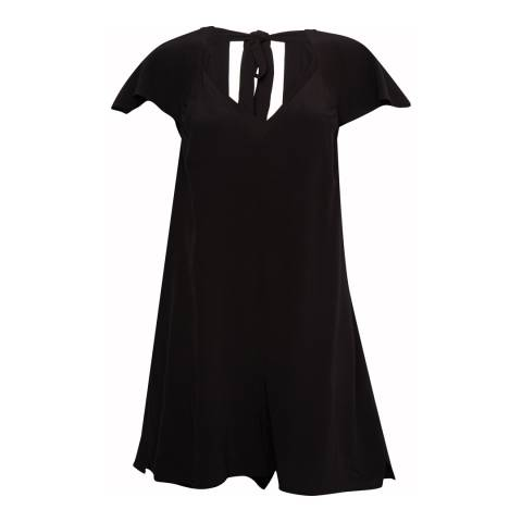 French Connection Black Drape Tie Back Romper