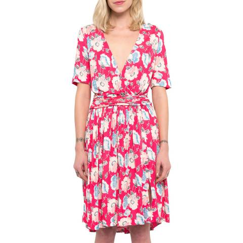 French Connection Cari Meadow Jersey Wrap Dress