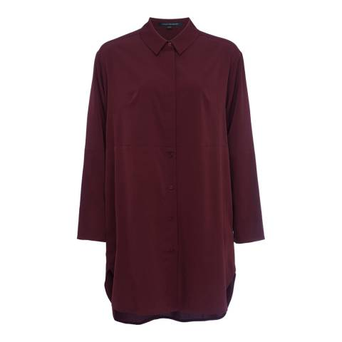 French Connection Biker Berry Oversized Sammy Shirt Dress