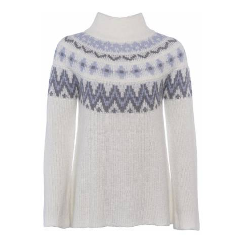 French Connection Fleur Fair-Isle Knits Long Sleeve Wool Blend Jumper