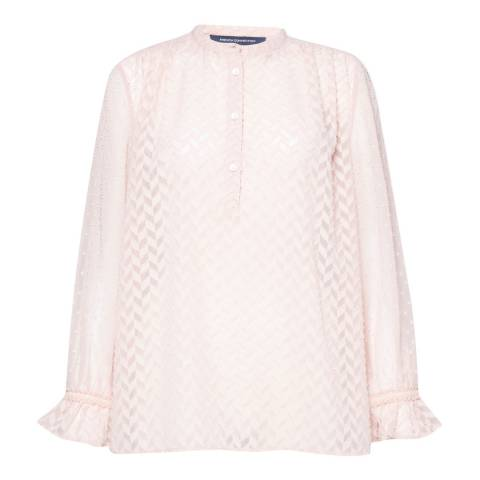 French Connection Teagown Corsica Sheer Pop Over Blouse