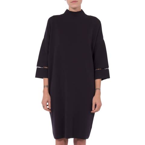 French Connection Black Roll Neck Dress