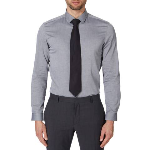 Versace Collection Grey Cotton Dress Shirt