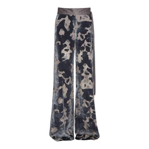 French Connection Dark Bonfire Blue Flared Trousers