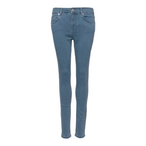 French Connection Powder Blue Rebound Skinny Jeans