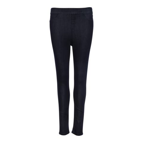French Connection Black Yoga Denim Pull On Jeans
