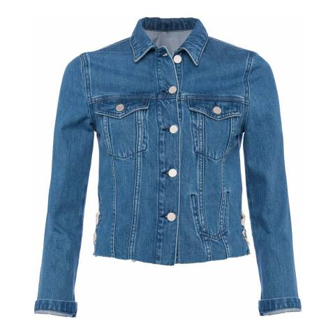 French Connection Blue Soft Authentic Lace Side Jacket