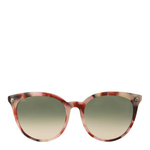 Gucci Womens Gucci Havana/Green Sunglasses 50mm