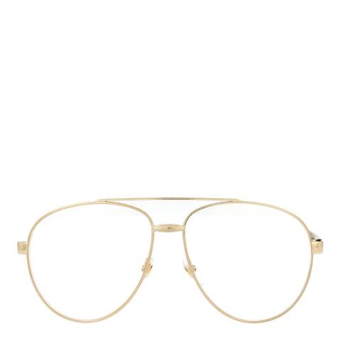 Gucci Unisex Gucci Gold/Clear Sunglasses 61mm