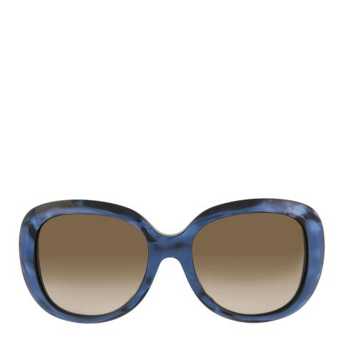 Gucci Womens Gucci Blue/Brown Sunglasses 55mm