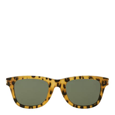 Saint Laurent Womens Saint Laurent Havana/Green Sunglasses 53mm