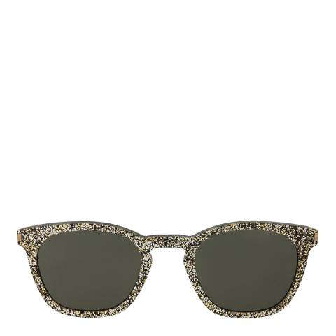 Saint Laurent Womens Saint Laurent Silver/Green Sunglasses 49mm