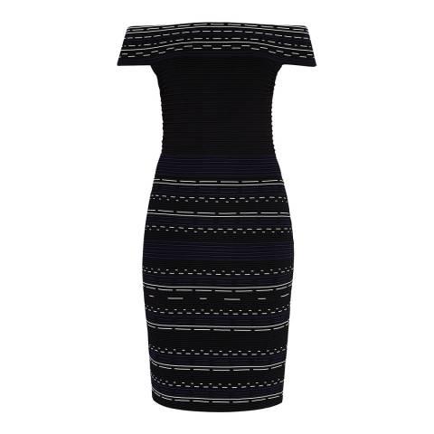 Ted Baker Black Diraz Bardot Knitted Dress