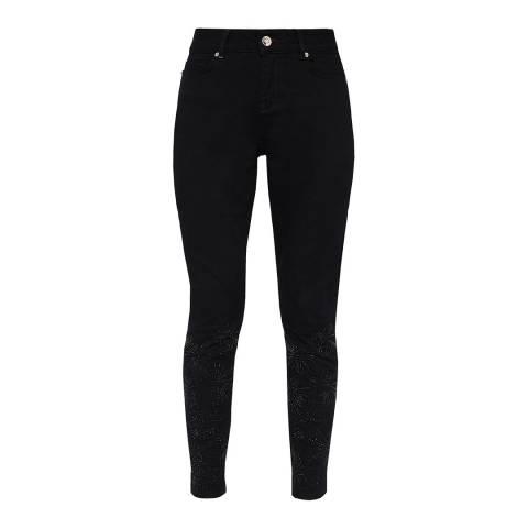 Ted Baker Black Raelynn Stardust Embellished Skinny Jeans