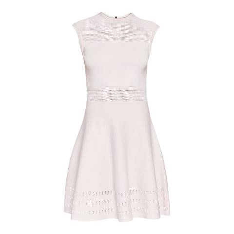Ted Baker Nude Pink Aurbray Knitted Skater Dress