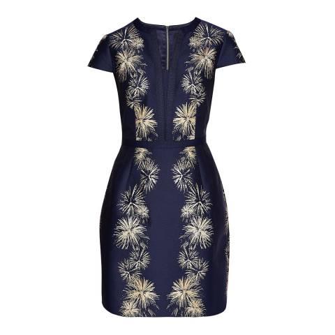 Ted Baker Sculpted Stardust Jacquard Dress