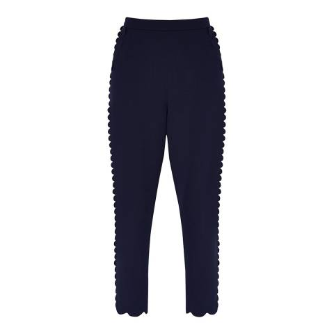 Ted Baker Navy Dyanni Scallop Trousers