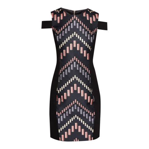 Ted Baker Multi Zyra Reel Cut-Out Bodycon Dress