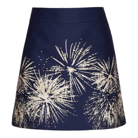 Ted Baker Blue Saphia Stardust Mini Skirt