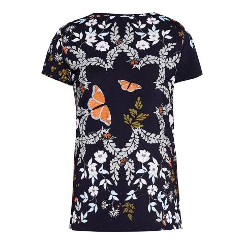 Ted Baker Blue Kyoto Gardens Fitted T-Shirt