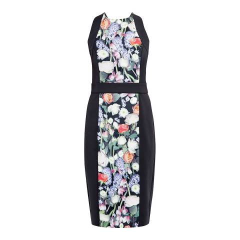 Ted Baker Black Kensington Floral Print Bodycon Dress