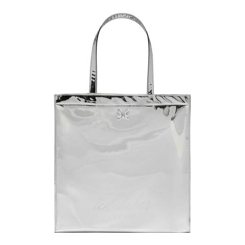 Ted Baker Silver Jencon Mirrored Large Icon Bag