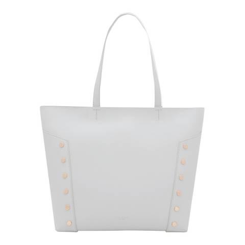 Ted Baker Light Grey Tamiko Studded Edge Shopper Bag
