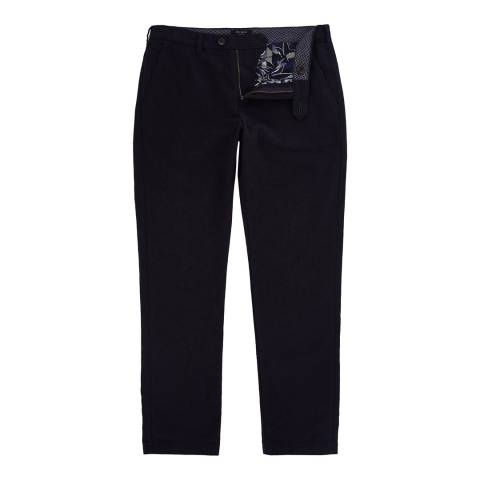 Ted Baker Navy Koossic Classic Fit Brushed Trousers
