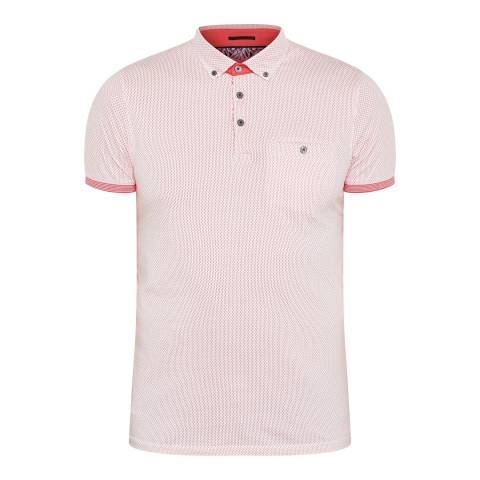 Ted Baker Coral Cotton Callie All Over Mesh Printed Polo
