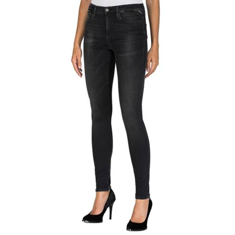 Replay Black Zackie Slim Fit Stretch Jeans