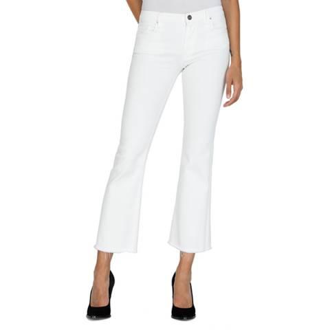 Replay White Carlida Slim Bootcut Stretch Jeans
